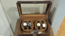 4 STAUER WATCHES AND ONE 4 WATCH WINDER NICE CONDITION