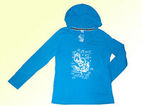 Damenshirt Langarmshirt Shirt leichter Pullover m.Kapuze Hoddie Gr. S