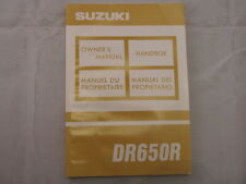 SUZUKI DR650R 1993 OWNERS MANUAL MANUEL DU PROPRIETAIRE HANDBOK