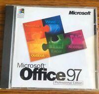 Genuine Microsoft Office 97 Professional Edition CD + Serial Key