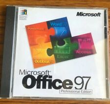 Genuine Microsoft Office 97 Professional Edition CD + Serial Key