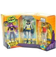 "DC Direct Classic 1966 TV Series Batman Robin Batgirl 6"" Figure Set!"