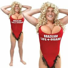 MENS COMEDY FUNNY STAG DO HAIR MARY LIFEGUARD BOOBS FANCY DRESS COSTUME OUTFIT