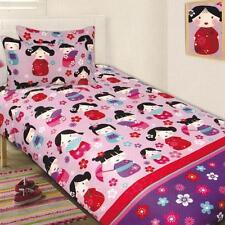 CHINA DOLL Single Quilt Cover Set Duvet Doona Oriental LILAC Pink Aqua GIRL