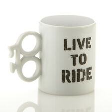 Live To Ride Mug Ceramic Tea Coffee Beverage Bike Cycle Ride Secret Santa Gift