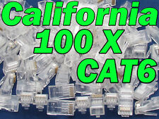 Lot 100 X Pcs CAT6 RJ45 Network LAN Cable Modular Plug 8P8C Connector End CAT 6