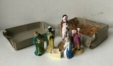 vintage Christmas nativity figurines decorations 6 characters