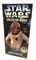 "Vintage 1996 Kenner Star Wars Collector Series Admiral Ackbar 12"" Figure NIB"