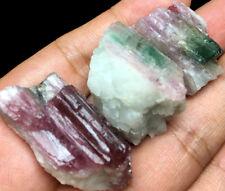 44g 3PCS Natural Watermelon Color Tourmaline Crystal Rough Stone Specimen K141