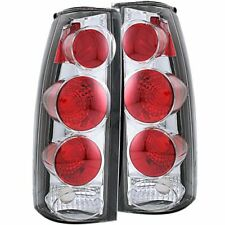 Anzo 211017 Tail Light Assembly Clear Lens Chrome Housing 3D Style Pair