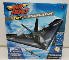 Air Hogs R C Dominator Stealth Airplane 2004 Spin Master Plane Tested
