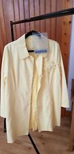 LADIES LEMON YELLOW COAT WITH CORSAGE TRENCH SIZE M SPECIAL EDITION PER UNA NEW