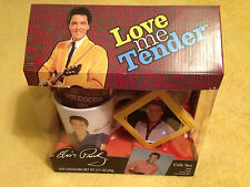 Elvis Presley Gift Set Love Me Tender Plate Mug Cocoa Ornament Signature New