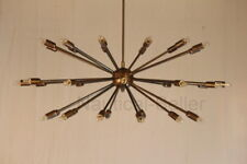 Mid Century 36Light Arms Brass Sputnik chandelier starburst light Fixture