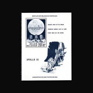 Belgium, Sc #B846, MNH, 1969, S/S, Space, Apollo XI, Armstrong, Collins, RDD-9