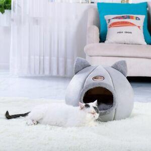 New Deep Sleep Comfort Pets Tent Cozy Cave Bed Little Mat Basket Cat Dog House