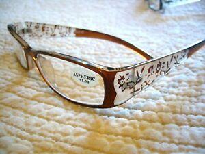 WOMEN'S READING GLASSES BIFOCALS ~FLOWER DESIGN  W/ RHINESTONES (1.00-4.00) R755