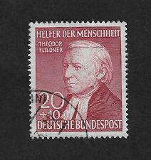 Germany 1952 Charity Stamp for Helpers and Humanity 20+10  Pfg Carmine  (Z4)