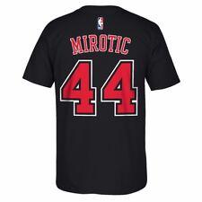 NBA adidas Name & Number Player Jersey Team Color T-shirt Collection Men's Chicago Bulls Nikola Mirotic Black XL