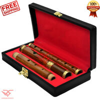 D Flute 4PC Irish Professional Flute│Natural Finish│FREE [[ Hard Case ]] by RS