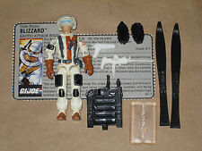 GI Joe 1988 BLIZZARD 99% Complete with File Card