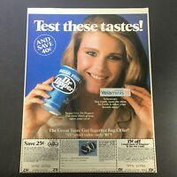 VTG 1982 Dr. Pepper Sugar Free Soft Drink & Velamints Sugar Free Gums Ad Coupon