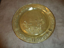AMBER SHARON CABBAGE ROSE DINNER PLATE (S) FEDERAL DEPRESSION GLASS 1930S