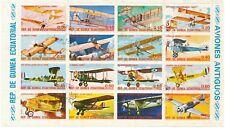 EQUATORIAL GUINEA 1974 Aircraft, 0.05 - 70 E., VFU small sheet incl. set (16 V.)