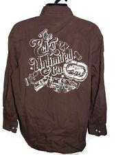 Ecko Unltd Mens Brown Long Sleeve Casual Graphic Logo Shirt - XL