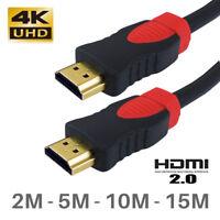 PREMIUM HDMI Cable V2.0 Gold High Speed 2.0 4K Ultra HD 2016P TV 2M 5M 10M 15M