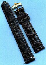 Rolex Gold Filled Buckle, 18mm Black Handcrafted Genuine Crocodile Strap Band 1