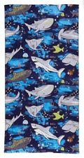 SHARK - Beach Towel, Velour 100% Cotton 70cm x 140cm NEW