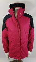 LL Bean Womens Ski Snow Jacket Parka Coat Hooded SZ 1X Hot Pink Black primaloft