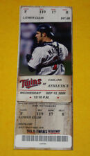 Minnesota Twins Ticket Stub | September 13 2006 | Frank Thomas Michael Cuddyer H