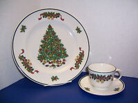 """Johnson Brothers Victorian Christmas Dinner Plate Cup & Saucer """"Made in England"""""""