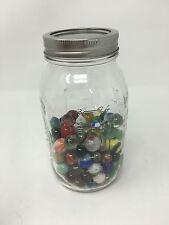 Mason Jar of Vintage MARBLES