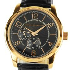 FRENCH CONNECTION WATCH 30% SALE! Gents 100mWR RG Plated Blk Leather RRP $249
