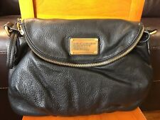 NWT MARC BY MARC JACOBS Black  Leather Classic Q Natasha Crossbody Bag