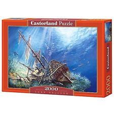 2000 Piece Castorland Jigsaw Sunk Galleon - Puzzle Sea Shipwreck Statek