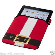 Père Noel iPad tablette étui housse Pochette Noël Néoprène Cadeau Chaussette