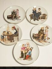 """5 Norman Rockwell Museum 6.5"""" Collector's Plates 1984"""