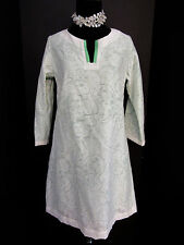Jack Rogers White and Mint Green Paisley Shift Dress Size 4  NWOT