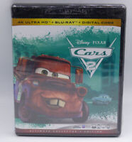 CARS 2 W/OUT SLIP COVER DIGITAL COPY + 4K ULTRA HD + BLU-RAY NEW SEALED