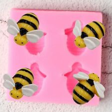 Bee Sugarcraft Silicone Mould Fondant Molds DIY Candy Clay Cake Decorating Tools