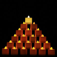 240PCS Flameless Battery Xmas LED Tea Lights Flickering Amber Tealight Candles