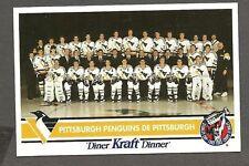 1992-93 Kraft Dinner(Canada) Pittsburgh Penguins Factory Redemption PostCard
