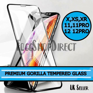 Gorilla Tempered Glass Screen Protector New iPhone 11 Pro X XR XS Max 12 Pro Max