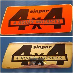 Autocollant vintage Renault 4x4 sinpar
