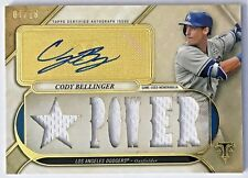 2017 TOPPS TRIPLE THREADS RELIC AUTOGRAPHS GOLD 07/18! ~ CODY BELLINGER RC LAD