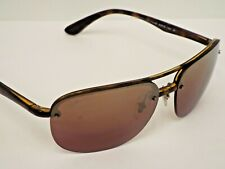 Authentic Ray-Ban RB 4275CH 710/6B Tortoise Brown Mirr Chromance Sunglasses $250